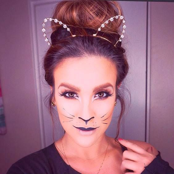 cat makeup idea for costume party - Cat Costume Ideas Halloween