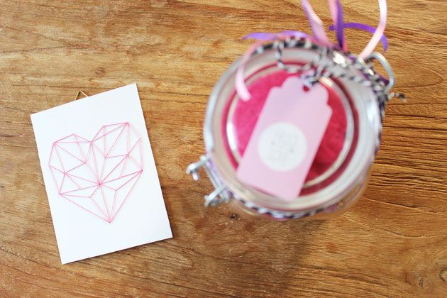 Bild: DIY last minute Geschenkidee, Wellness im Glas verschenken, gefunden auf Partystories.de