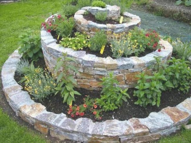 40 Idees Gia Spiral Kataskeyes Khpoy Diy Herb Ga Diy Herb Gia Idees Kataskeyes Khpoy Spiral Spiral Garden Diy Herb Garden Outdoor Gardens