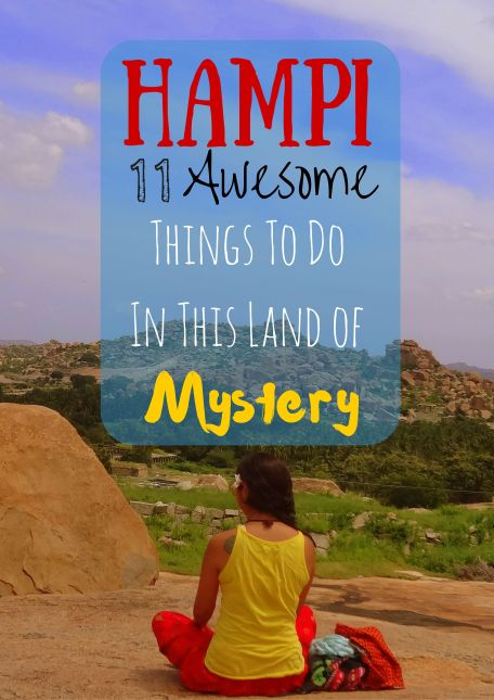 HAMPI - A unique destination which is a pilgrim's delight, a backpacker's hub, a historian's riddle and a geologist's venture – Hampi's got it all! Except for one thing. We did not see a single resort and we hope it remains this way. Here is a list of 11 KILLER things to do in this little village in Karnataka, India. http://drifterplanet.com/hampi-awesome-things-to-do/