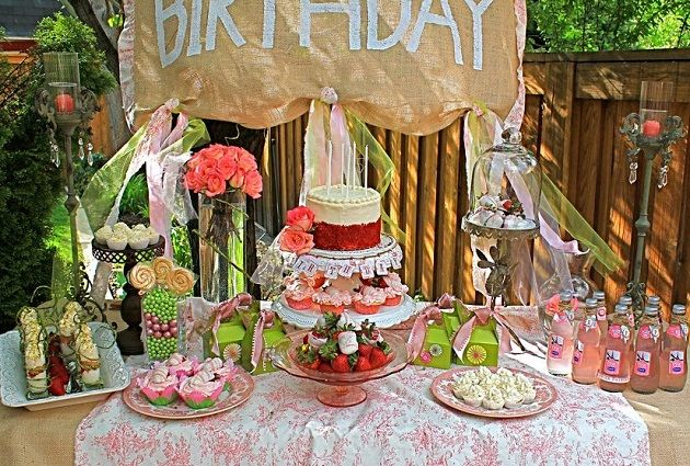 Rustic pink celebration table