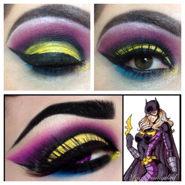 batgirl comic eye look #prom | Batgirl makeup, Halloween ...