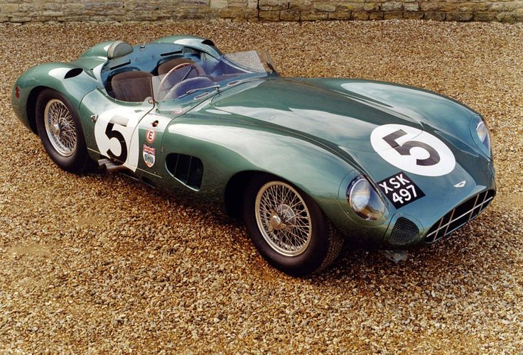 1957 Aston Martin DBR1. Type RB6, Aluminum, Twin Spark, Inline-6, DOHC, 2valves/cyl, Triple Weber 45DCO Carburetors, 2992cc/182.6cu.in., 179.0kw/254 bhp @6250 rpm. 800kg/1764lbs. 5 built. Driven by Stirling Moss, Roy Salvadori, Carol Shelby, Tony Brooks. Wins: 1957 Nurburgring 1000km FOA, 1957 SPA Grand Prix for Sportscars FOA, 1958 Nurburgring 1000km FOA, 1958 Goodwood Tourist Trophy FOA, 1959 Nurburgring 1000km FOA, 1959 LeMans FOA, 1959 Goodwood Tourist Trophy FOA.