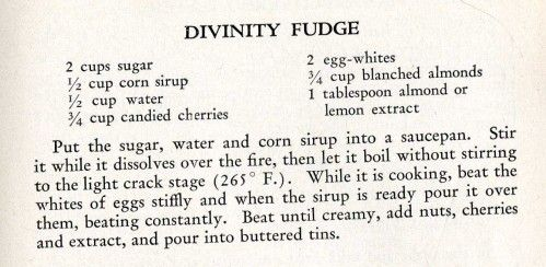 Potato Candy & Divinity Fudge