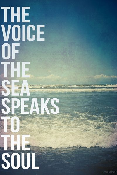"""""""The voice of the sea speaks to the soul"""" -- Kate Chopin // Art Print by Galaxy Eyes"""