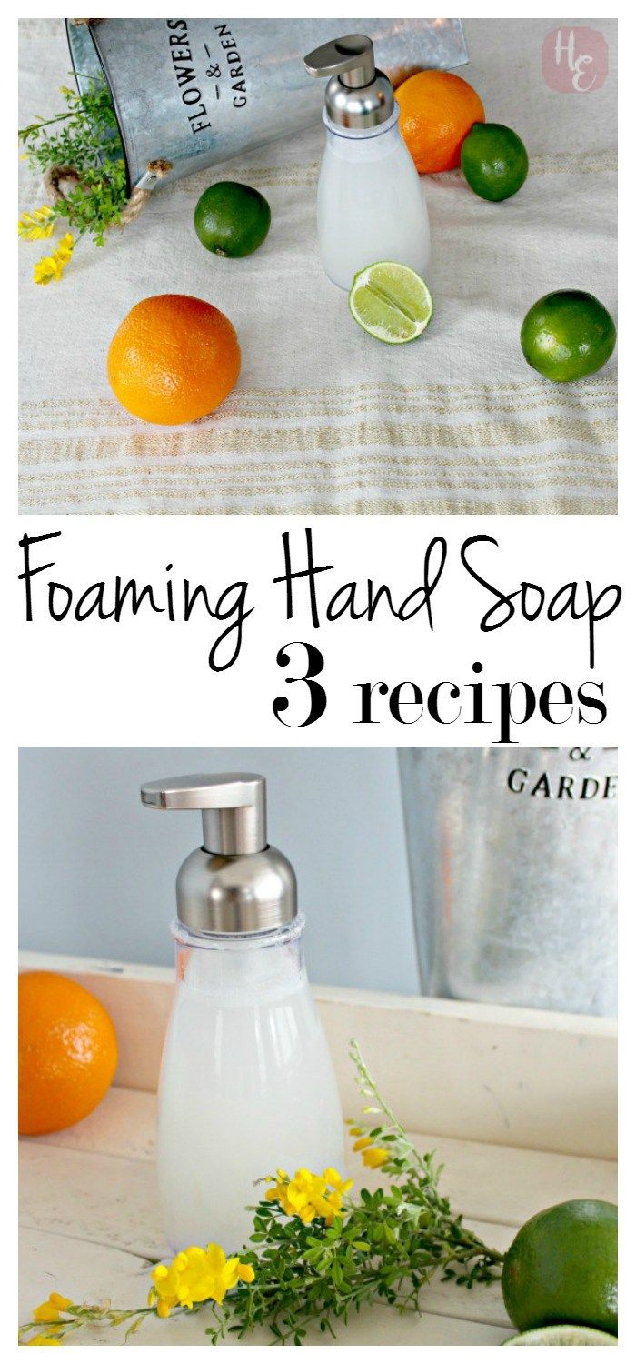 Foaming Hand Soap DIY: 3 Recipes