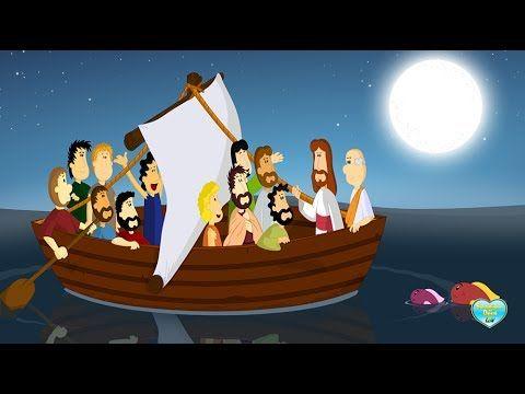 Desenho Os Milagres de Jesus   Jesus Caminha sobre as Águas
