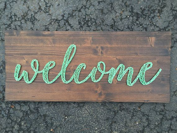 Welcome String Art                                                                                                                                                     Mais