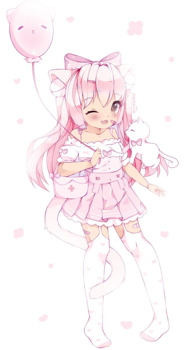 the kawaii Cat girl Details about  /Angie