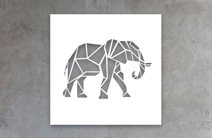 Canvas Cutout  #elephant #africanbigfive