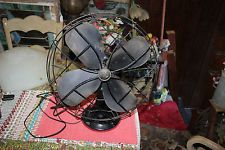 Vintage Antique Emerson Electric Industrial Oscillating Table Fan-Model 79648AP