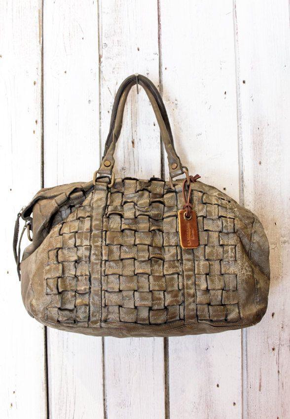 """Handmade woven leather bag """"INTRECCIATO 12"""" di LaSellerieLimited su Etsy"""