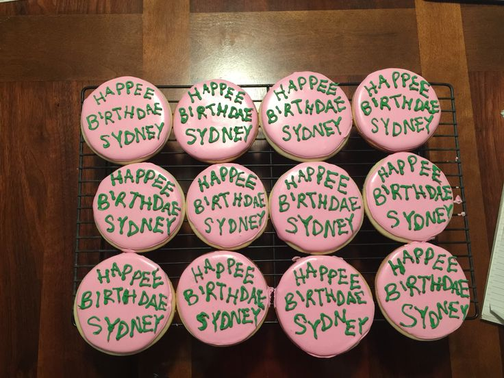 Hagrid's cake cookies Harry Potter cookies Happee Birthdae Harry cookies