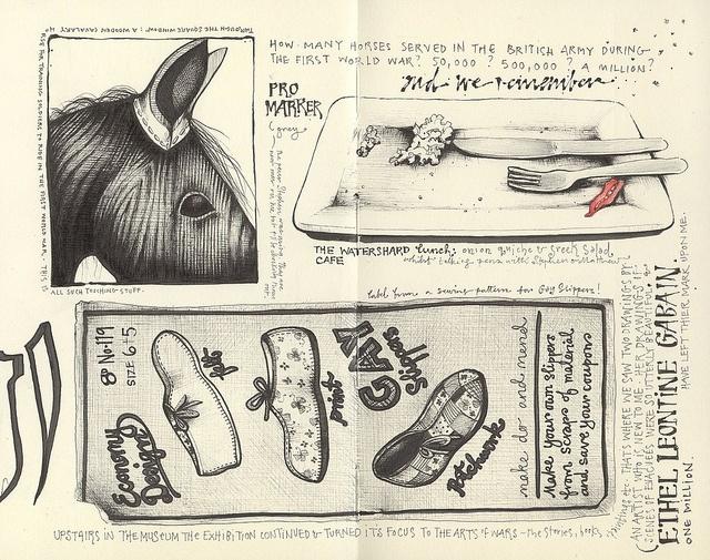 to walk amongst butterflies by andrea joseph's illustrations, via Flickr