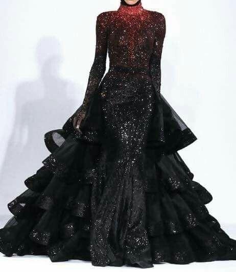 Dress by Michael Cinco.