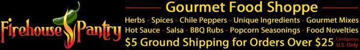 this company sells powdered soy and powdered wasabi...hmmmm....Firehouse Pantry Gourmet Food Shoppe