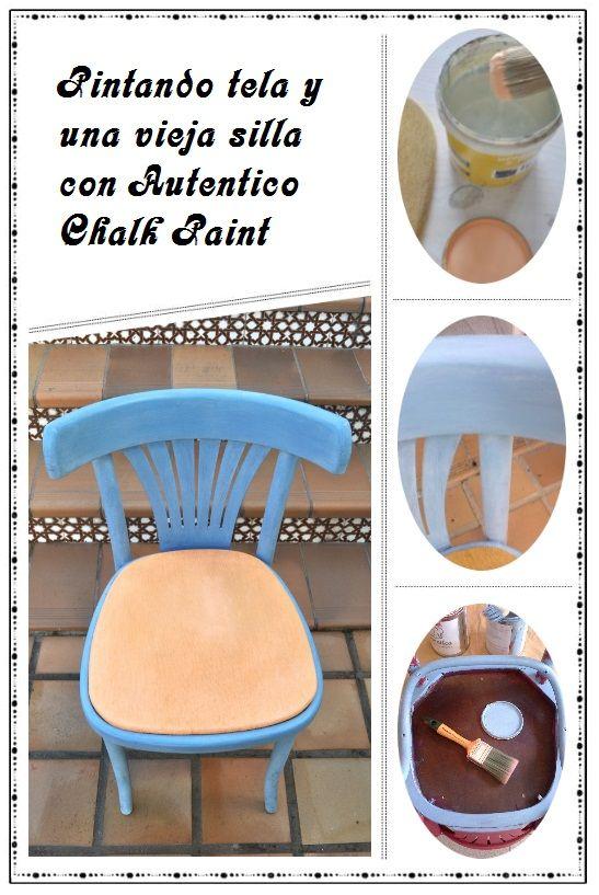 Te mostramos cómo pintamos una silla y te damos unos consejos sobre como pintar tela con chalk paint.