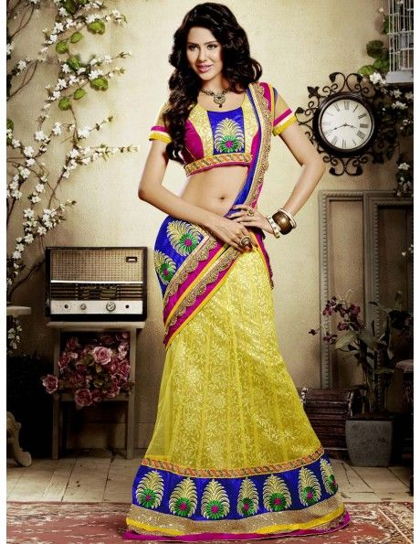 Bharat plaza gives you a complete outlook on the latest bridal lehenga. Winsome Beauty Lemon. http://www.bharatplaza.com/women/lehengas.html