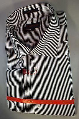 Executive White/Black Stripe French Cuff Shirt