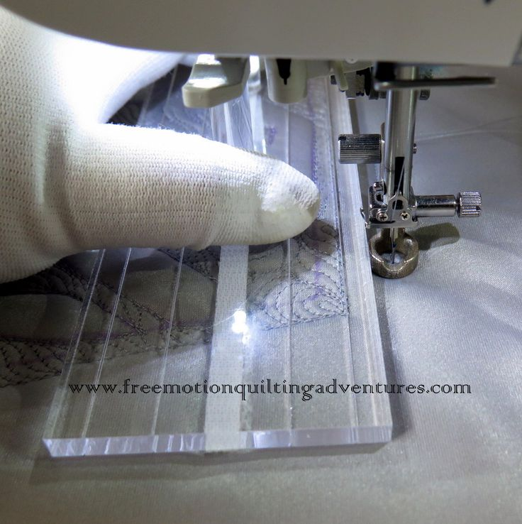 free motion quilting with rulers on a sewing machine
