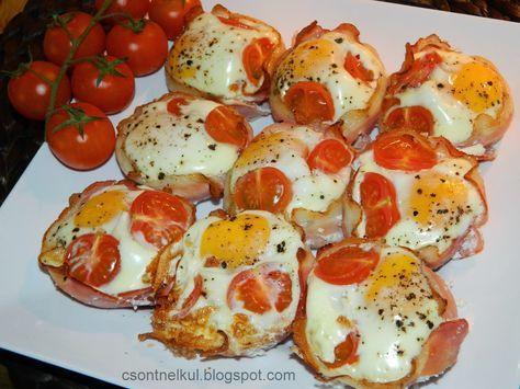Csont nélkül...csak egyszerűen: Sonkás tojás muffinsütőben