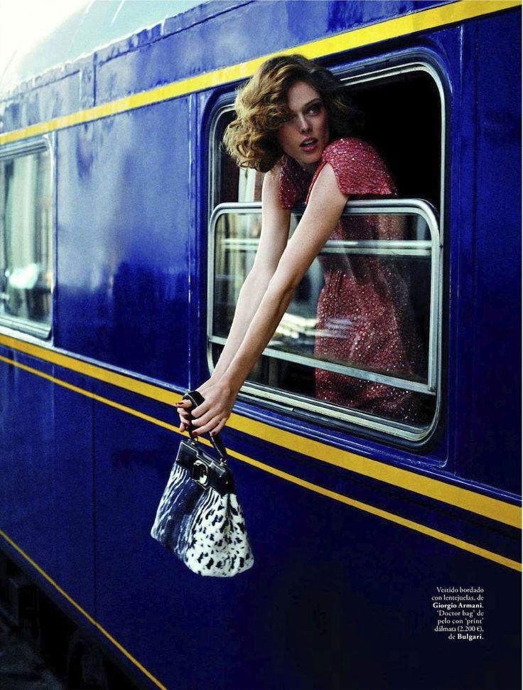 viaje al pasado: coco rocha by xavi gordo for elle spain september 2012