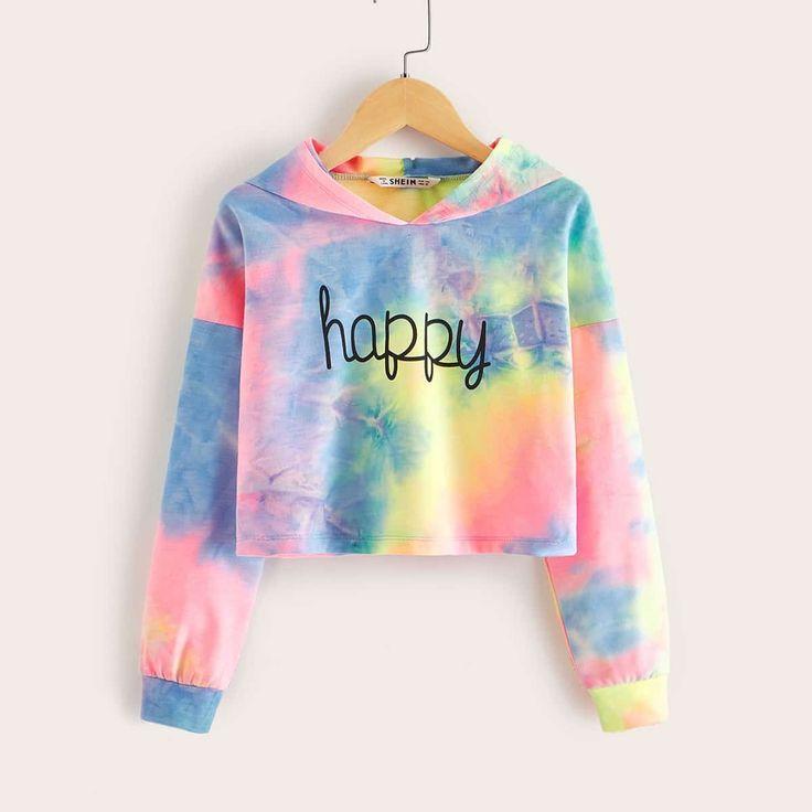 Madchen Kapuzenpullover Mit Buchstaben Muster Und Batik Madchen Kapuzenpullover Mit Buchstaben Mu Tie Dye Hoodie Girl Sweatshirts Girls Sweatshirts Hoodie