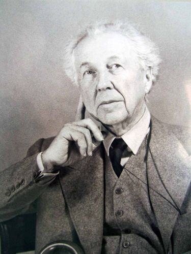 American Architect Frank Lloyd Wright Portrait Vintage Historical Print