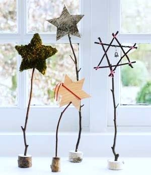 sterren op stokjes