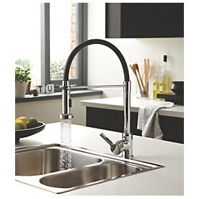 Bristan Liquorice Pull Out Spray Mono Mixer Kitchen Tap Chrome