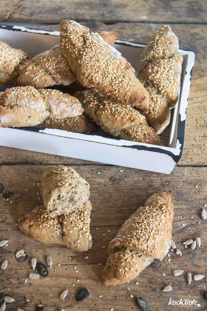 Kornspitz | glutenfrei | vegan | schnelles Brötchenrezept und super lecker