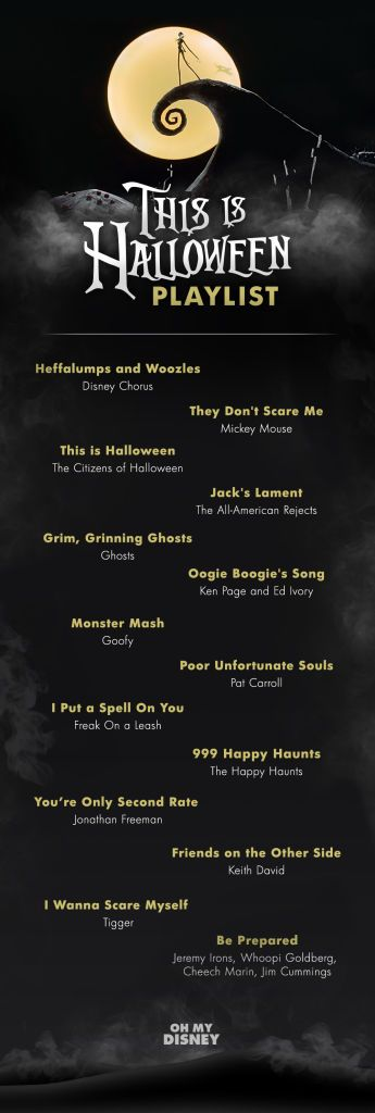 Because every great Halloween party needs a great Halloween playlist. See more at Oh My Disney. More