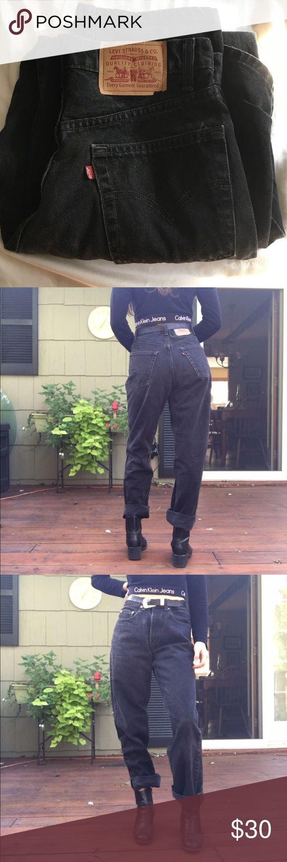 Vintage Levis 550 Jeans This piece is a classic. Vintage high waisted Levis 550! Measurements; waist: 30 rise: 11 inseam: 32 perfect for Halloween!!! Levi's Jeans