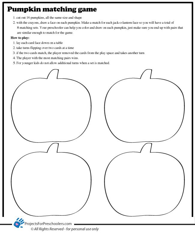 party matching game write a number on one and matching number wordor color pumpkin and write matching color word