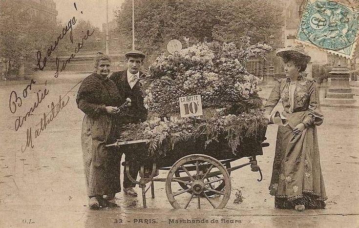 Paris flower vendor
