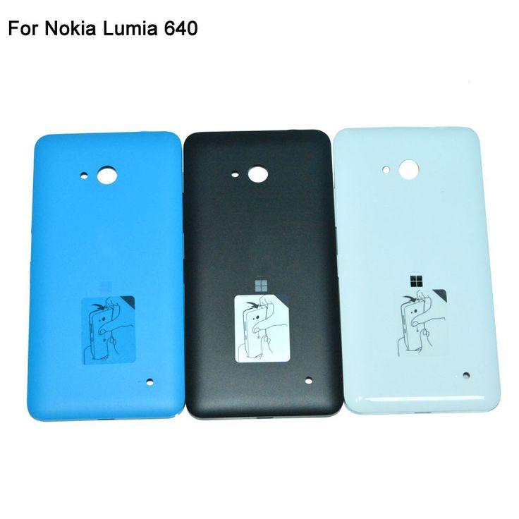 バッテリーバックカバーcase用nokia microsoft lumia 640バッテリーカバーシェルリアバッテリードアハウジング交換サイドボタン