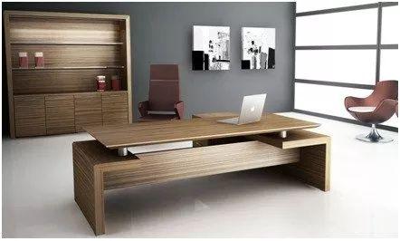 escritorio ejecutivo minimalista, archiveros y credenzas