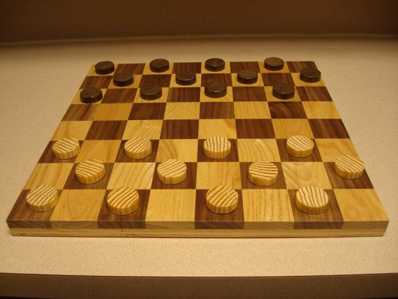 Checker /Chess Board by MainStCrafts on Etsy, $55.00