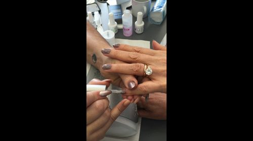 """Have a sneak peak the official Gelish Master educator applying top coat on  """"From Rodeo to Rodeo Drive"""" from the latest Urban Cowgirl Collection!! #gelish #nails https://video.buffer.com/v/55efa186dde6394021ebba60"""