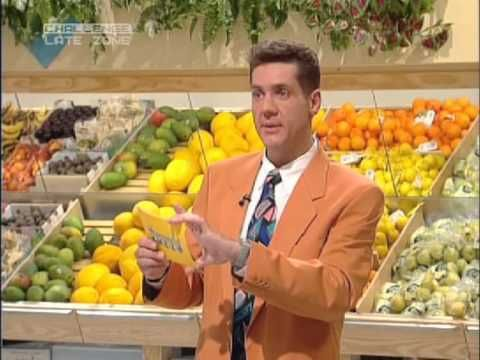 Supermarket Sweep - Dale Winton goes wild in the aisles.