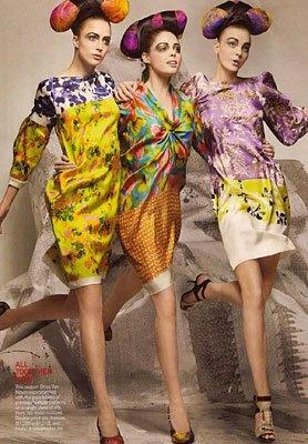 print mixing!: Models, Fashion, Craig Mcdean, Caroline Trentini, Long Hair, Raquel Zimmermann, Vogue Magazines, Coco Rocha, Colors Hair