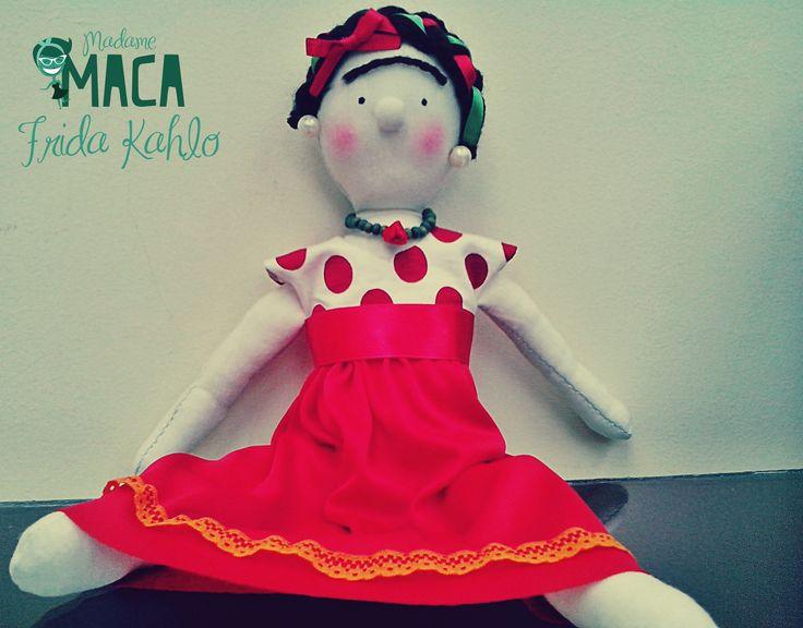 Muñeca de Frida Kahlo 100%  hecha a mano