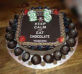 The Cake Lab Ranelagh, Dublin, Ireland, Artisan Baking Studio. Bespoke Wedding Cakes.  Keep Calm personalised edible image cake topper.