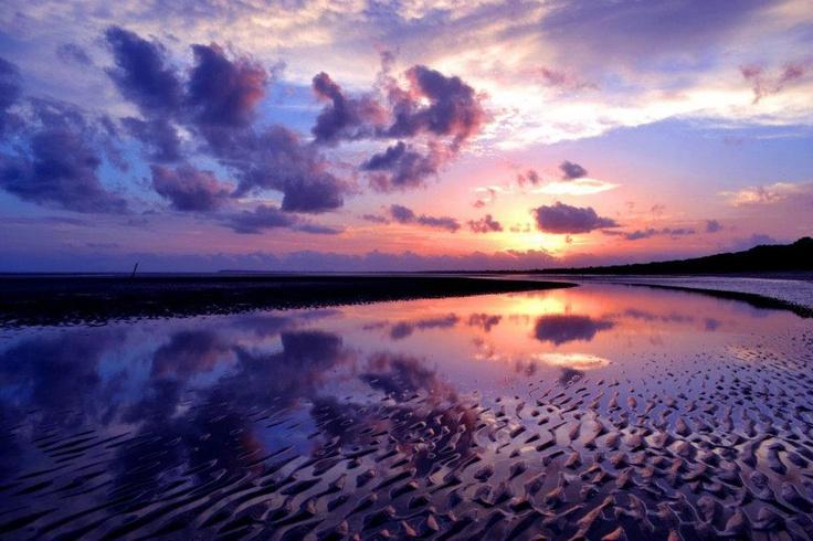 Sunrise in Hervey Bay, Queensland.