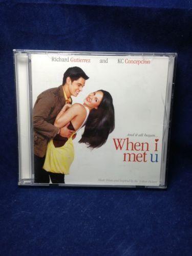 When I Met U Soundtrack KC Concepcion Filipino CD