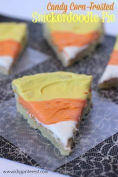 Candy Corn-Frosted S Candy Corn-Frosted Snickerdoodle Pie on...  Candy Corn-Frosted S Candy Corn-Frosted Snickerdoodle Pie on MyRecipeMagic.com Recipe : http://ift.tt/1hGiZgA And @ItsNutella  http://ift.tt/2v8iUYW