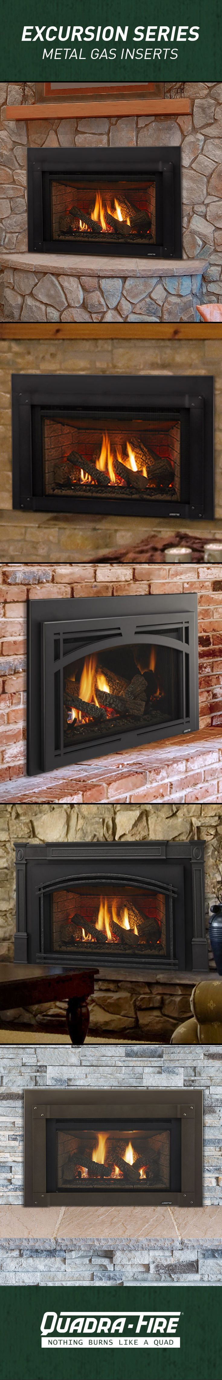 Quadra Fire Gas Fireplace Inserts Turn Your Drafty Inefficient Wood Fireplace Into A Beautiful And Efficient Fireplace Hearth Brick Fireplace Fireplace Inserts
