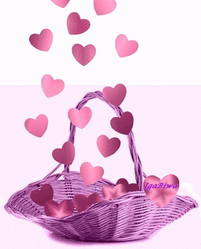 cesta corazones de amor