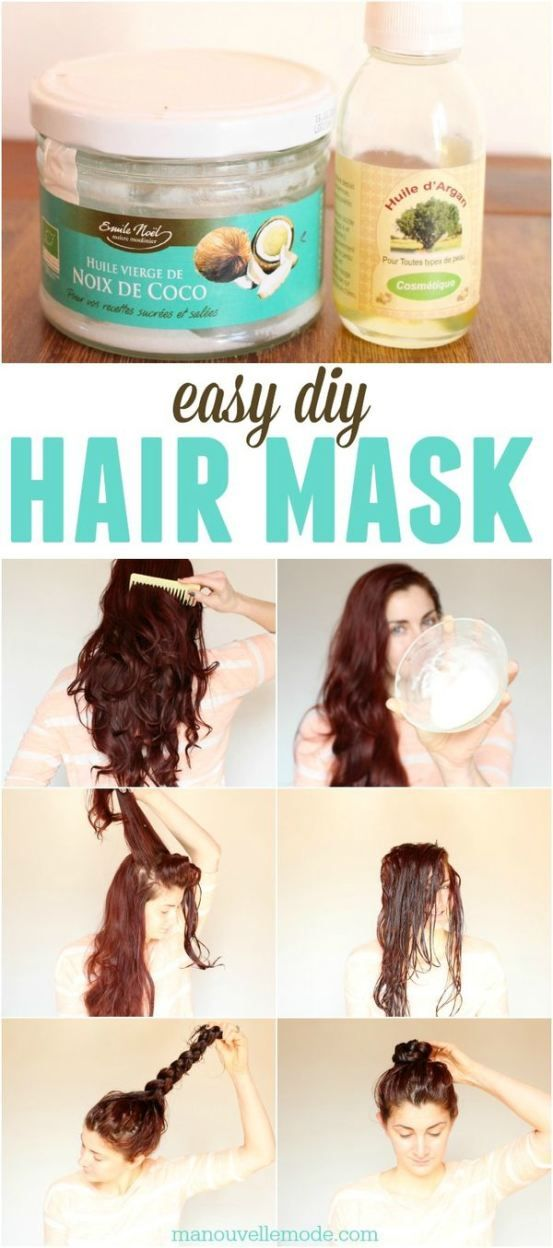 Only two ingredients for this amazing hair mask! After just an hour your hair will be silky smooth!