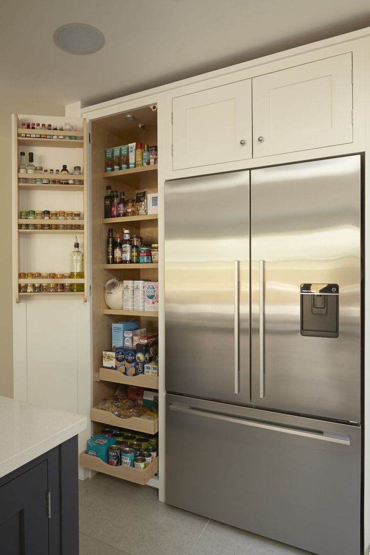 Higham - Half larder with storage racks and scooped and scalloped drawers - Fisher Paykel Fridge